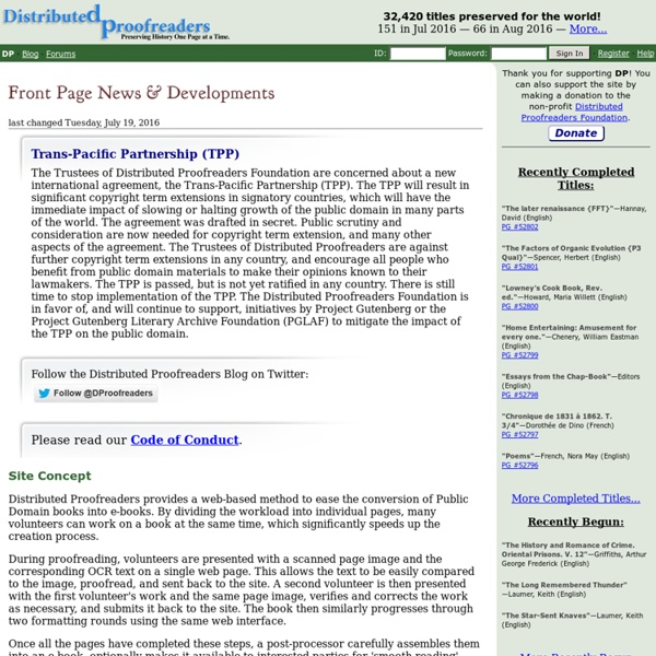 Distributed Productino (Gutenberg project)