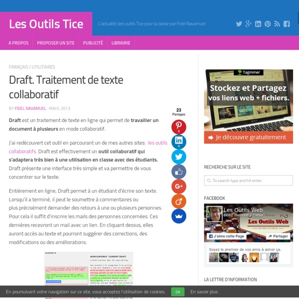 Draft. Traitement de texte collaboratif