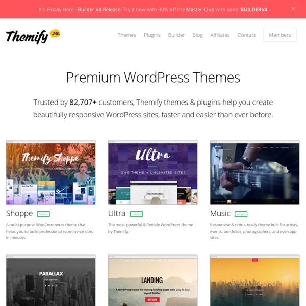 Themify - Drag & Drop WordPress Themes