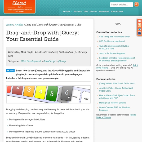 Drag-and-Drop with jQuery: Your Essential Guide