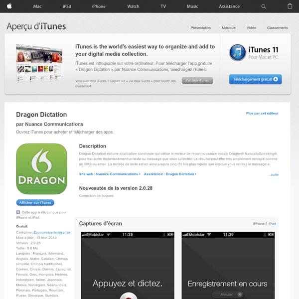 Dragon Dictation dans l'App Store