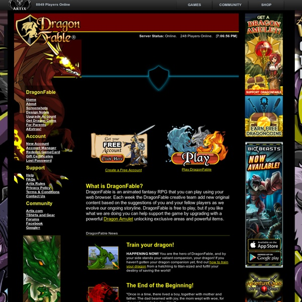 Dragon Fable - Play a free RPG in a 2D online fantasy game world