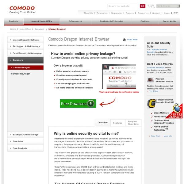Dragon Internet Browser – Comodo Dragon Web Browser