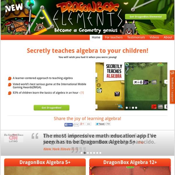 DragonBox - The multi-platform Math Game