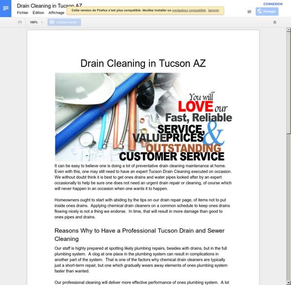 Drain Cleaning in Tucson AZ