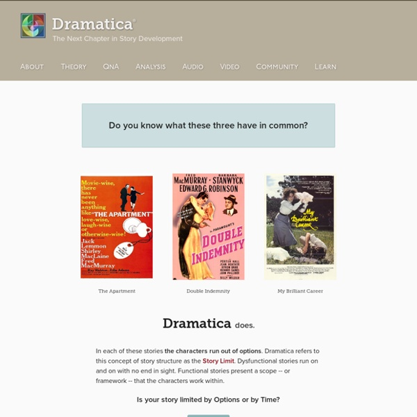 Dramatica - The Next Chapter in Story Development