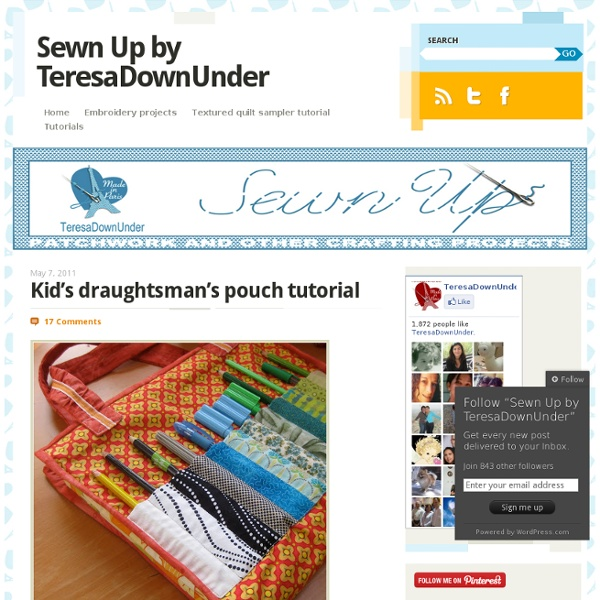 Kid's draughtsman's pouch tutorial