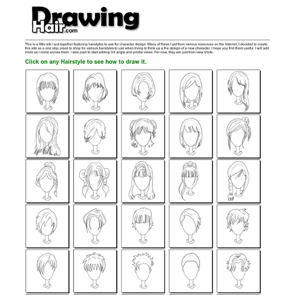 Drawing Hair - Technique for Drawing Hair Styles