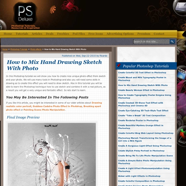 How to Mix Hand Drawing Sketch With Photo