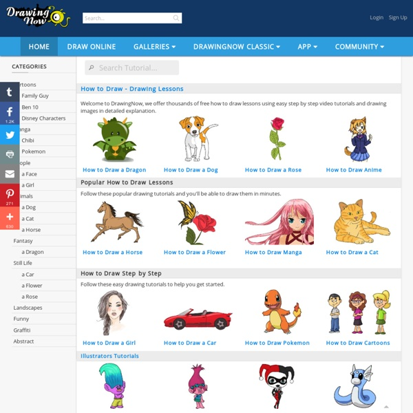 DrawingNow - Learn How To Draw Manga, Cartoons, People, Animals, Graffiti, Cars, Dragons - Free Online Drawing Lessons.