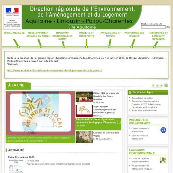 """DREAL Aquitaine """"des compétences pour un territoire durable"""""""