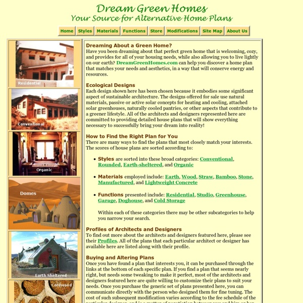 Dream Green Home Plans