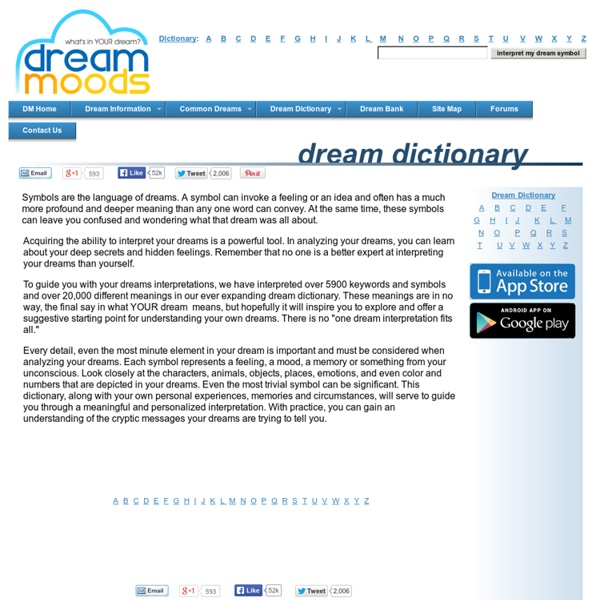 dream moods dream dictionary meanings for symbols that - 600×600