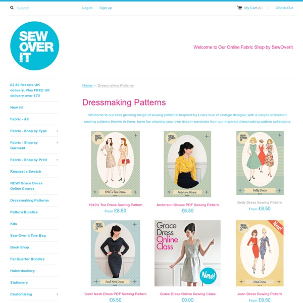 Dressmaking Patterns - View our Sewing Pattern Range – Sew Over It's Online Fabric Shop