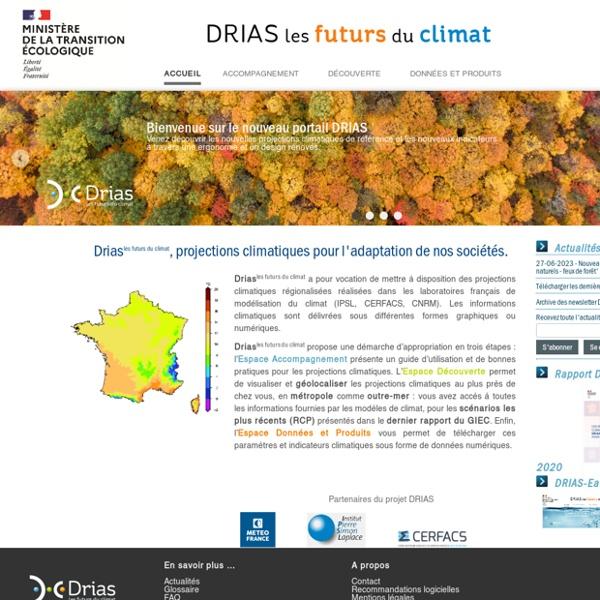 Drias, Les futurs du climat - Accueil