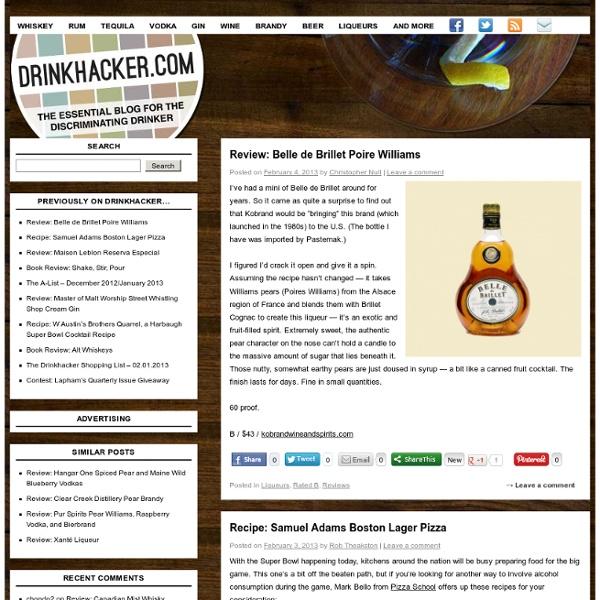 Drinkhacker.com - The Essential Blog for the Discriminating Drinker