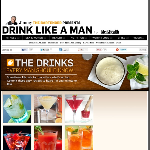 The Drinks Every Man Should Know