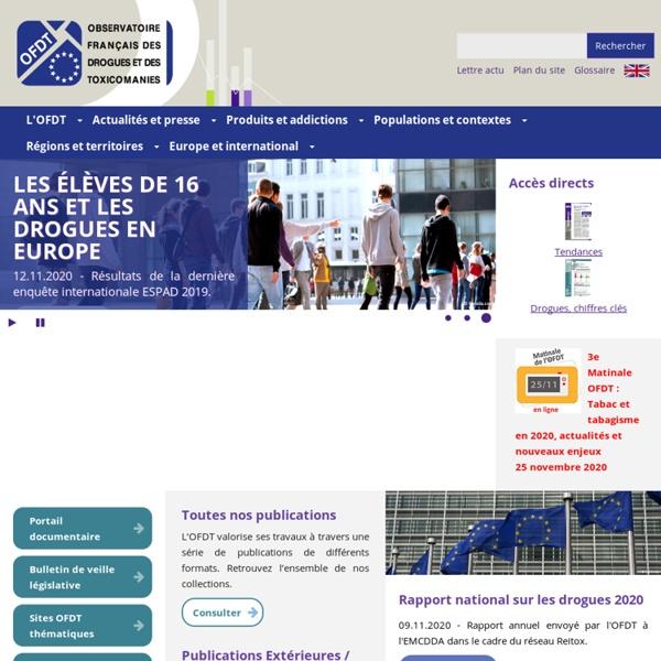 OFDT - Drogues et toxicomanie en France - Données, études, enquêtes