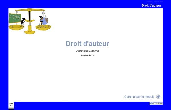Droit d'auteur Cours en ligne