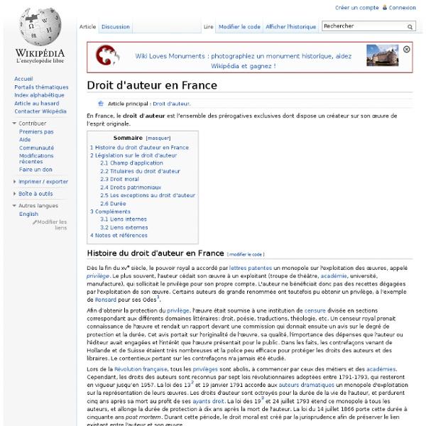 Droit d'auteur en France