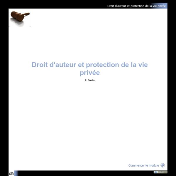 Droit d'auteur et protection de la vie privée - Module de formation