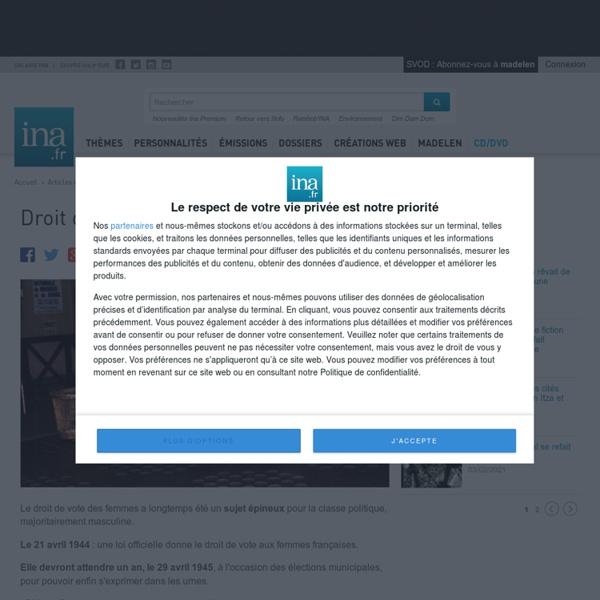 Droit de vote des femmes - Archives vidéo et radio Ina.fr