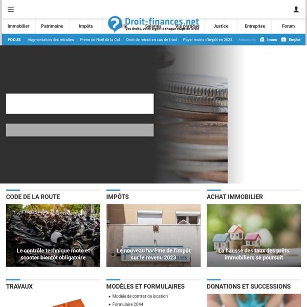 DROIT FINANCES: Droit-finances.com : vos droits et votre argent