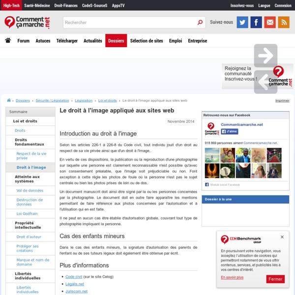 Le droit à l'image appliqué aux sites web - CCM