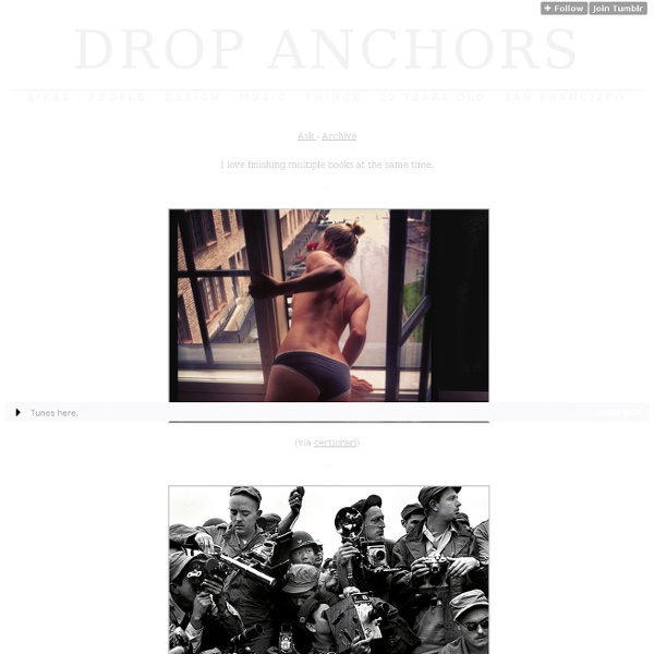 Drop Anchors