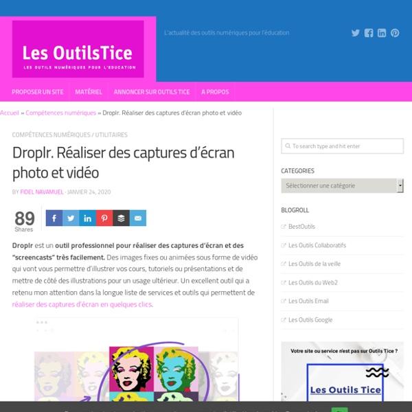 Droplr. Réaliser des captures d'écran photo et vidéo
