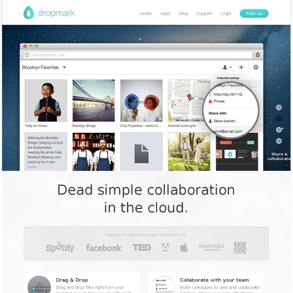Dropmark - Drag & Drop Files From Desktop Or Browser. Organize, collaborate, and share