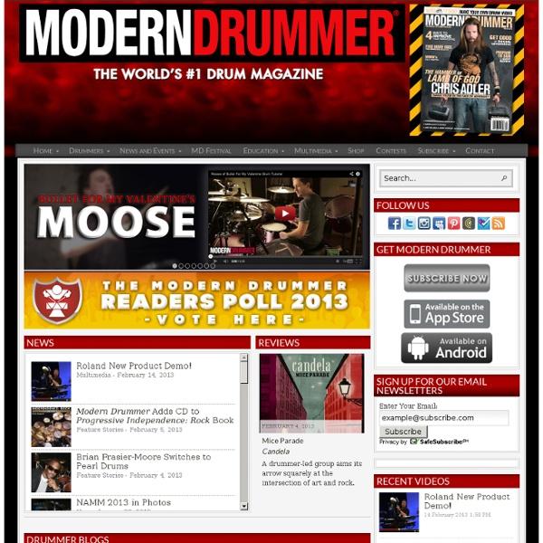 The Online Presence of Modern Drummer Magazine.