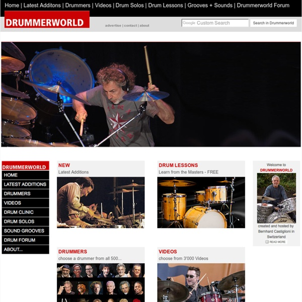 DRUMMERWORLD - The World of Drummers and Drums