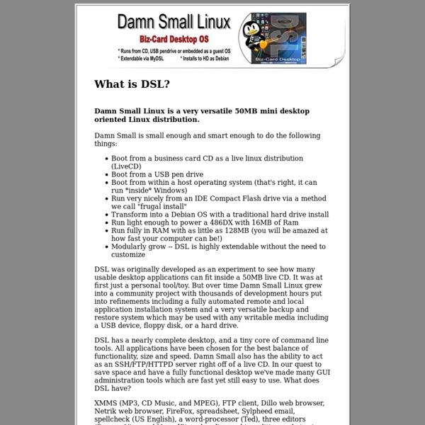DSL information