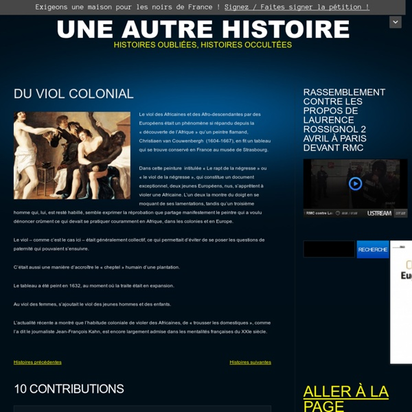 Du viol colonial