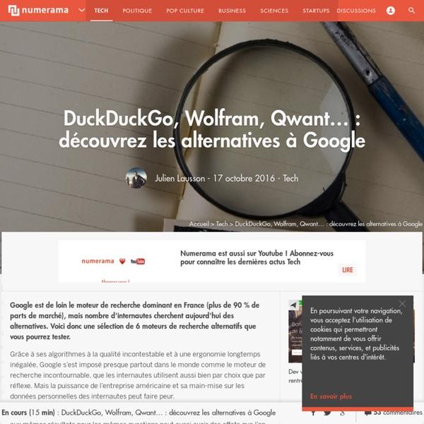 DuckDuckGo, Wolfram, Qwant... : découvrez les alternatives à Google - Tech
