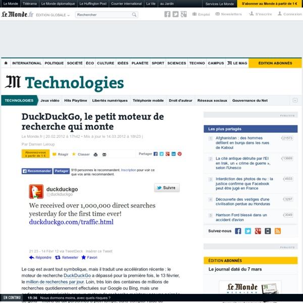DuckDuckGo, le petit moteur de recherche qui monte