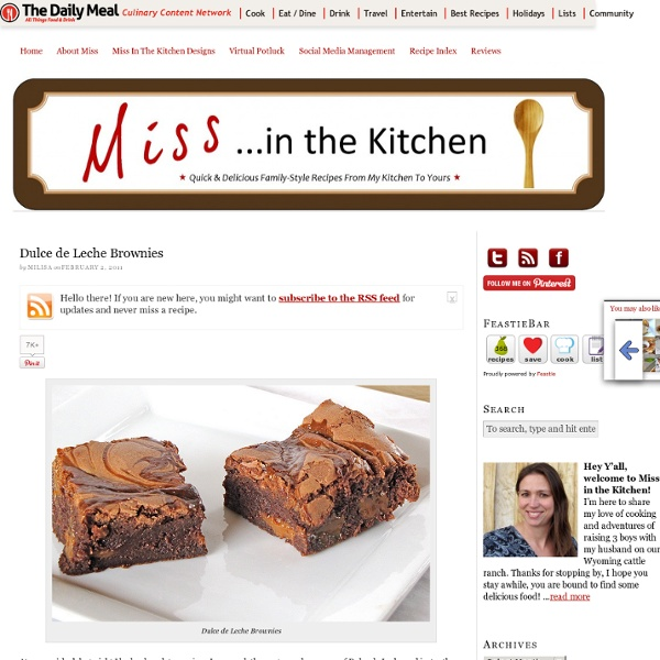 Dulce de Leche Brownies : : Miss in the Kitchen