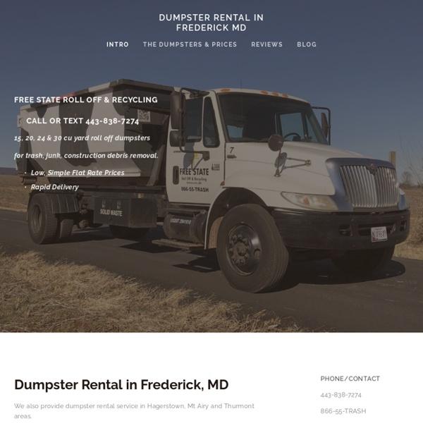 Dumpster Rental Ijamsville MD