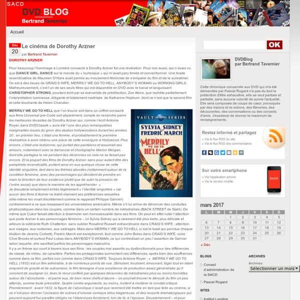 DVDBlog, par Bertrand Tavernier