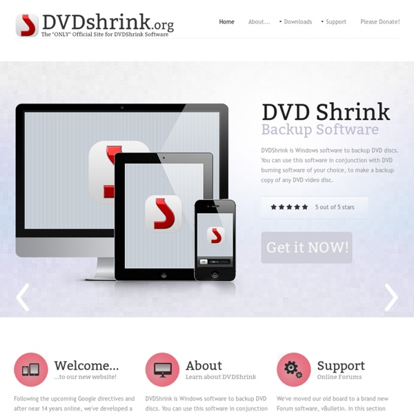 Dvdshrink.org: FREE Backup Solution for your DVD movies!