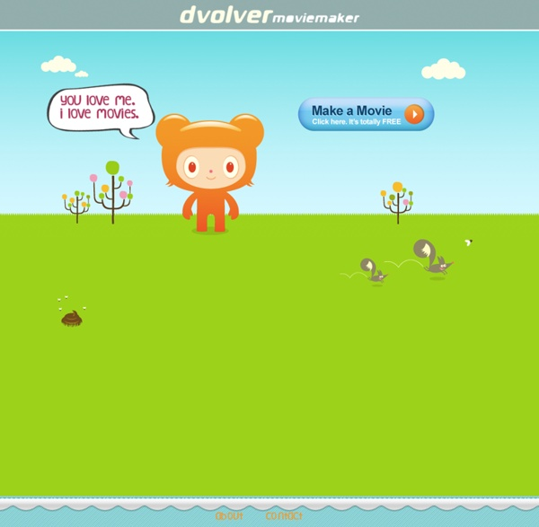 Dvolver Moviemaker. Make digital movies online. Formerly Dfilm. Home