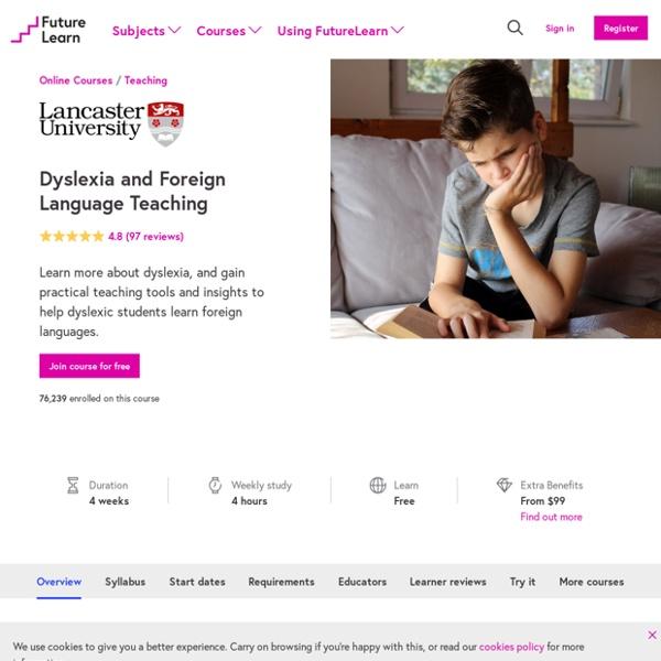 Dyslexia and Foreign Language Teaching - Lancaster University