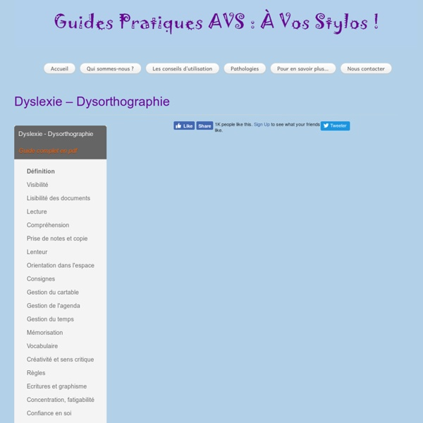 Dyslexie – Dysorthographie