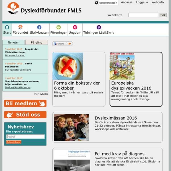 Startsidan på dyslexi.org - om läs-, skriv- och räknesvårigheter