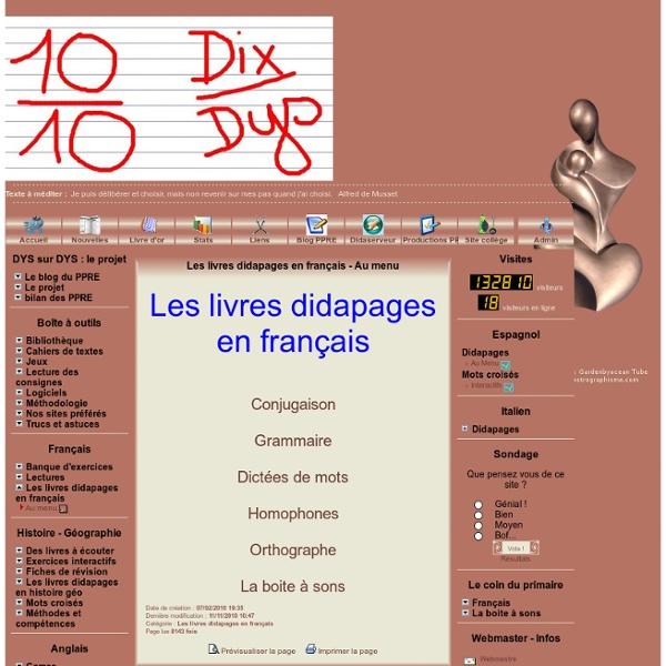 Les livres didapages en français - Au menu