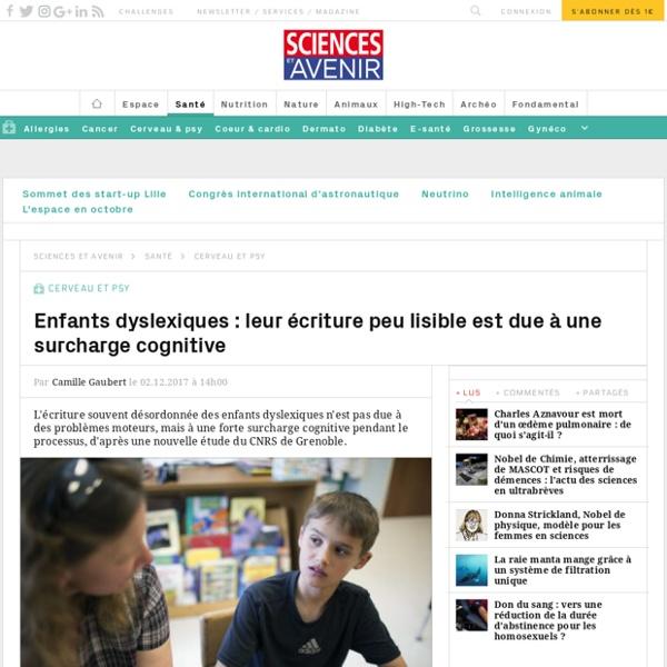 Enfants dyslexiques : leur écriture peu lisible est due à une surcharge cognitive