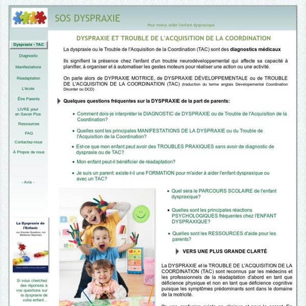 DYSPRAXIE DIAGNOSTIC et TROUBLES PRAXIQUES