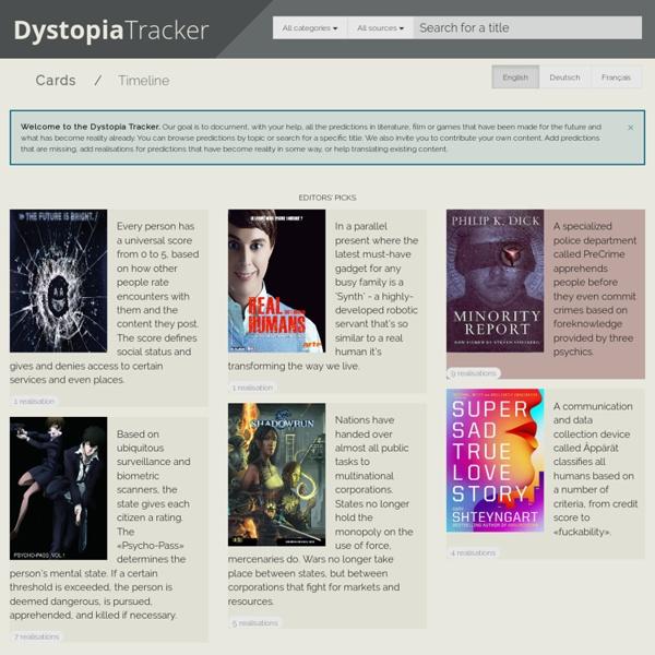 Dystopia Tracker