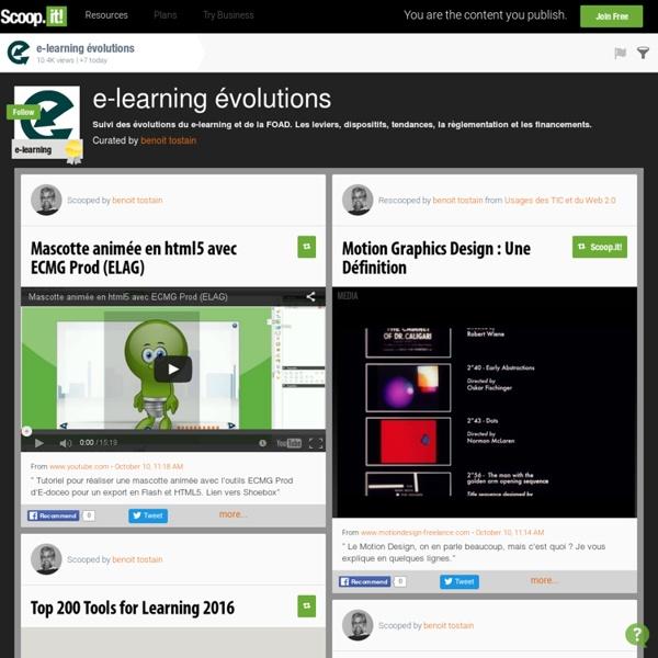 E-learning évolutions